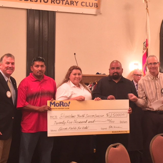 Modesto Rotary donates $25,000 for new soccer complex